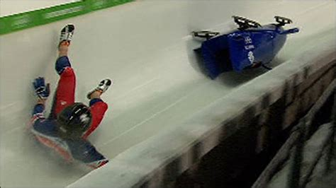 Olympics Skeleton Death Bbc Sport Vancouver 2010 British Bobsleigh Pair Crash Out