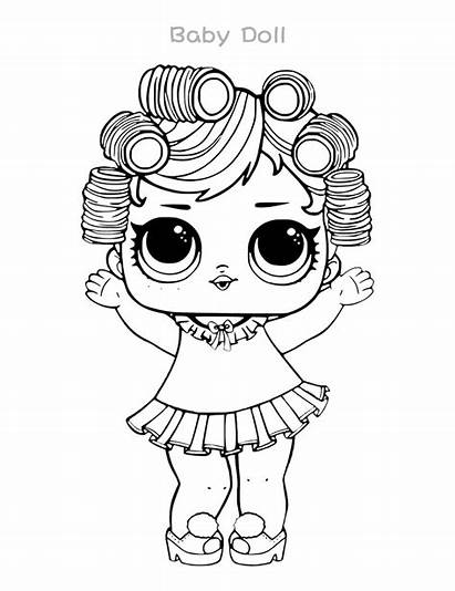 Lol Coloring Doll Surprise Dolls Pages Printable