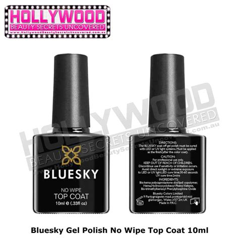 best no light gel polish bluesky no wipe top coat soak off uv gel polish needs uv