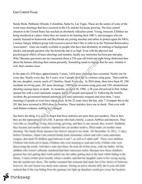 gun control persuasive essay year  wace english