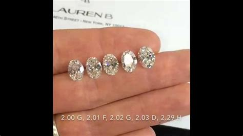 oval cut diamonds comparison   ct     color