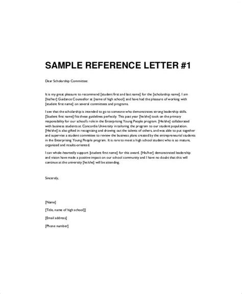 letters of recommendation for students sle recommendation letter for high school student 6
