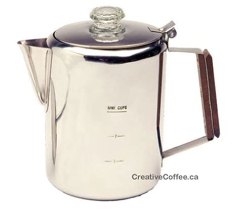 percolator 12 cups stainless steel coffee pot creative coffee