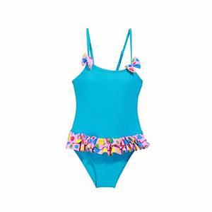 Daxon Maillot De Bain : maillot de bain enfant turquoise froufrous femme pas chere ~ Melissatoandfro.com Idées de Décoration