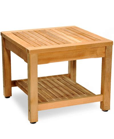 teak outdoor side table furniture macy s