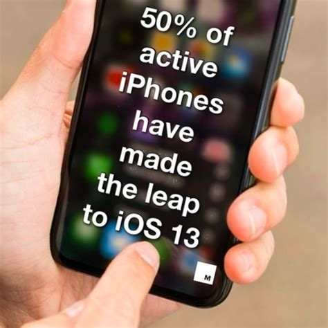 Half of all active iPhones have made the leap to iOS 13 ...