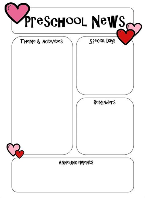 free editable newsletter templates for word 6 best preschool newsletter templates to sle templates