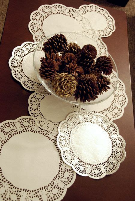 days  christmas crafts  recipes paper doily table
