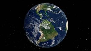 Realistic Earth Slowly Rotating Around Its Axis (loop Able ...