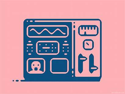 Animated Dribbble Editorial Machine Animation Learning Pixel