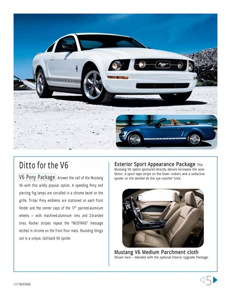 ford mustang brochure