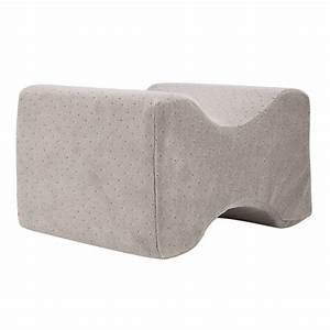 memory foam knee pillow bed cushion pressure relief sleep With bed knee support pillow