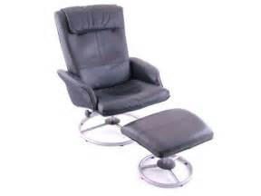 ikea black leather reclining chair matching ottoman