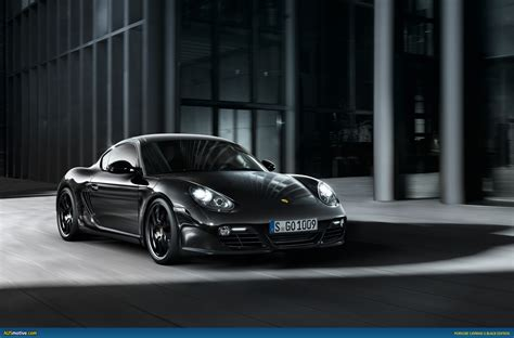 porsche sports car black ausmotive com porsche cayman s black edition