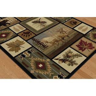 wildlife area rugs tayse rugs nature northern wildlife lodge area rug 5 x 8