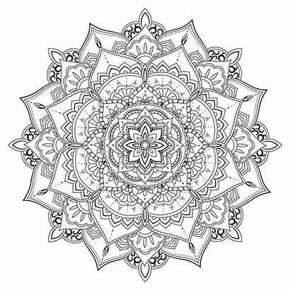Mandala Lotus Coloring Canvas Meditation 16x16 Wrapped