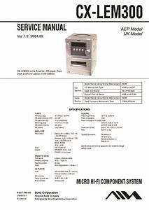 Sony Xr-em300 Service Manual