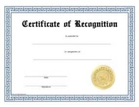Free Printable Recognition Certificates