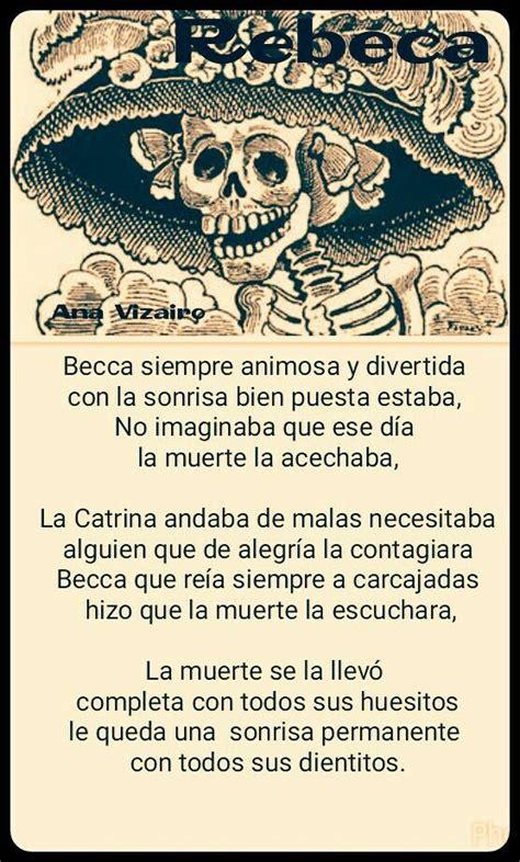 Rebeca Calavera literaria 2015 Calaveras literarias