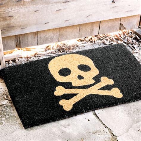 Skull And Crossbones Doormat skull bones coir door mat