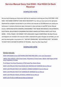 Service Manual Sony Hcd D560 Hcd N350 Cd Deck By
