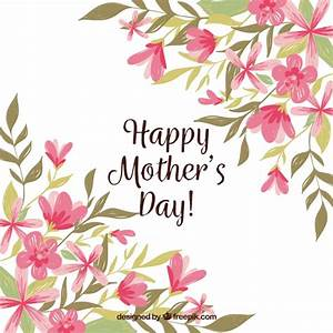 Mother's day background with colorful flowers Vector ...