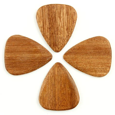 almond wood timber tones almond wood guitar pick players pack of 4 at gear4music com