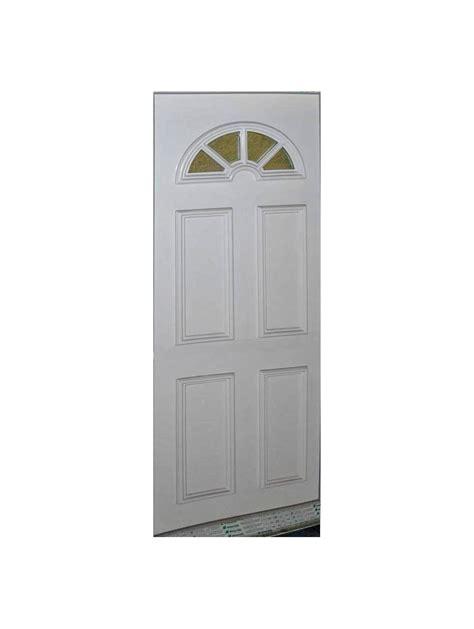 porte d entree pvc blanc vitrage demi lune hauteur 215x90 largeur droite