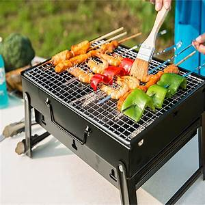 Tomount, Barbecue, Grill, Outdoor, Full, Set, Portable, Thick, Foldable, Grill, Camping, Picnic, Bbq, Bracket