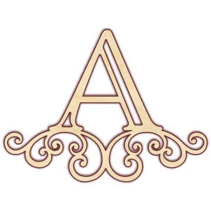 scroll monogram