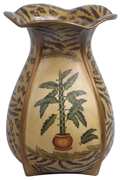Tropical Vases by Orchard Creek Designs Palm Tree Vase Vases Houzz