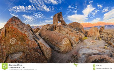 Boot Arch Alabama Hills Royalty Free Stock Photography