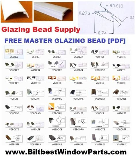 colorado window glazing bead repair parts hardware supply sacramento