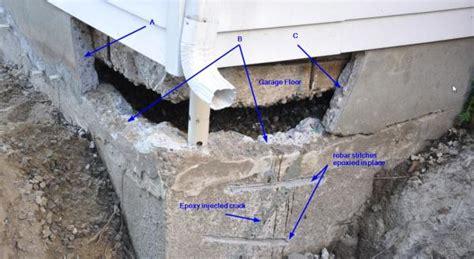 how to repair crumbling concrete garage floor foundation concrete repair rebar dowels adhesive etc