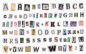 Alphabet newspaper uppercase letters stock photo more for Alphabet photo letters