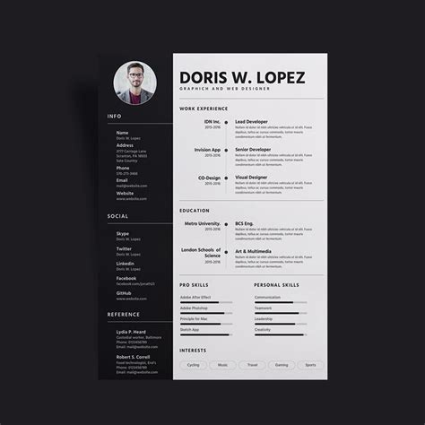 simple professional resume cv design template
