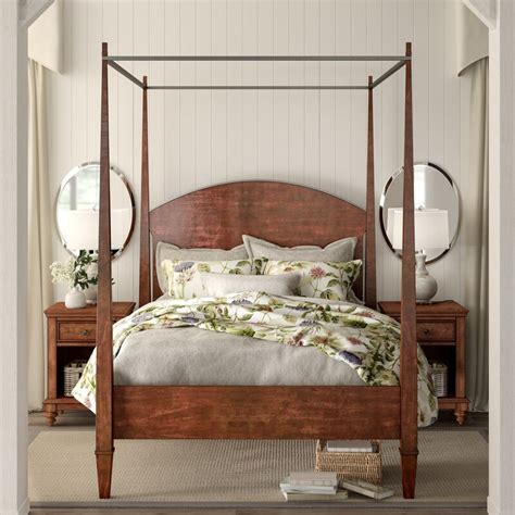 birch lane heritage schaffer canopy bed reviews birch