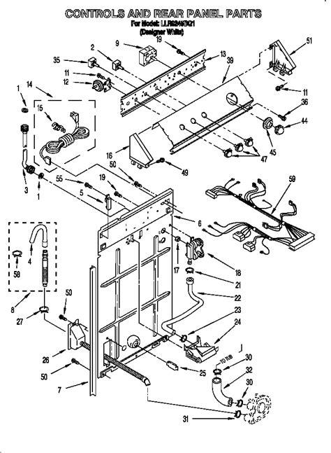 Kenmore Dryer Wiring Harnes Diagram by Kenmore 500 Washer Parts Diagram Automotive Parts
