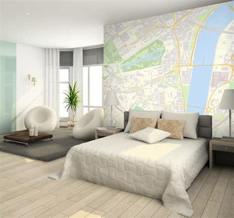 custom postcode wallpaper contemporary bedroom