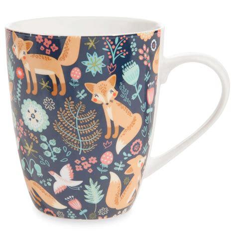 mug motif renards en porcelaine maisons du monde