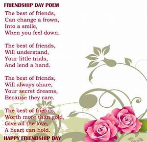 Friendship day Poems 2018, Happy Friendship Day Best Poetry