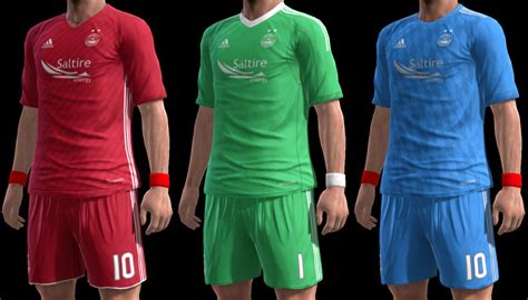 PES 2013 Aberdeen 17-18 Kits by m4rcelo - PES Patch