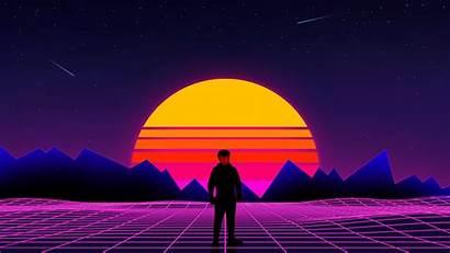 Sunset Retro Wallpapers Purple 80s Neon Vaporwave