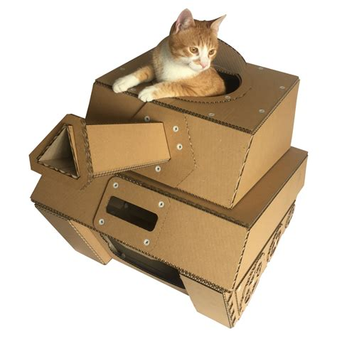 Tank Cardboard Cat House  Military Spirit Awakens In Your