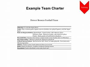 team charter examples images reverse search With team charter template example