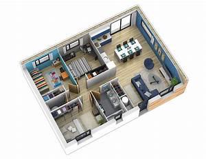 Plan Interieur Maison : plan maison bois mod le natiban ardoise natilia ~ Melissatoandfro.com Idées de Décoration