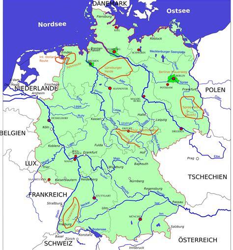 deutschlandkarte  und fluesse  blog