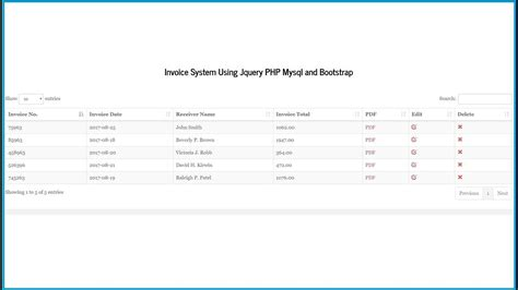 invoice system  jquery php mysql  bootstrap