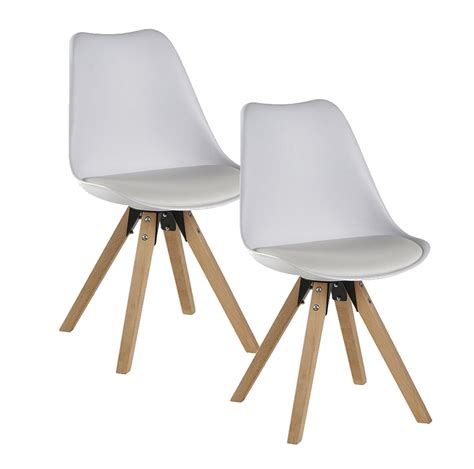 chaise blanche et bois chaise blanche pied en bois chaise design eames inspired