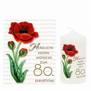 Besinnliches Zum 80 Geburtstag : geburtstagskerze zum 80 geburtstag logo ~ Frokenaadalensverden.com Haus und Dekorationen